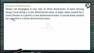 Wave Motion - Number Of Dimensions (Session 1 & 2)