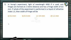 Wave Optics - Class Exercise Part-2 (Session 2 & 3)