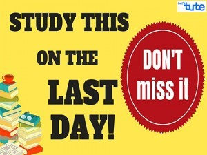 What To Revise On The Last Day Of Board Exam 2018 Video by Lets Tute