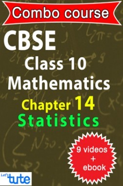 Combo : CBSE Class X Chapter 14 - Statistics ( 9 Videos + Complementary Smartbook As A Helping Guide ) by Let's Tute