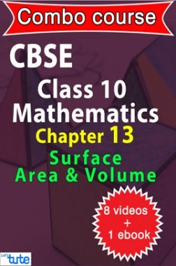Combo : CBSE Class X Chapter 13 - Surface Areas & Volumes ( 8 Videos + Complementary Smartbook As A Helping Guide ) By Let's Tute