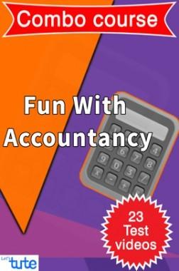 Combo : Fun With Accountancy ( Accountancy ) For Class XI & XII by let's Tute