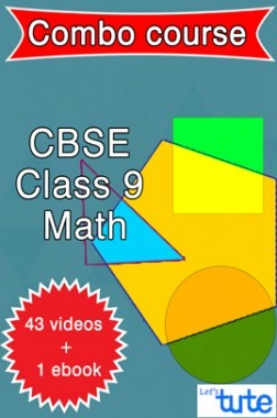 Combo : Math For Class IX CBSE By Let's Tute