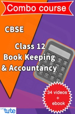 Combo : Book Keeping & Accountancy Class XII By Let's Tute