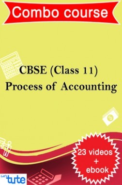 Combo : Process Of Accounting For Class XI CBSE HSC By Let's Tute