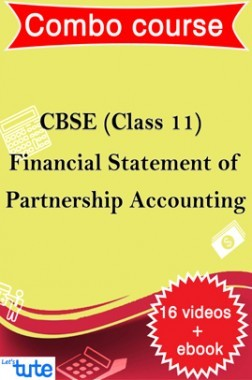 Combo : Financial Statements Of Partnership For Class XI CBSE HSC By Let's Tute