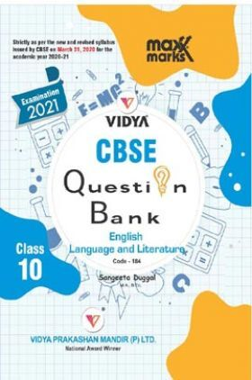 MaxxMarks CBSE Question Bank For Class - X English Language And Literature (March 2021 Exam)