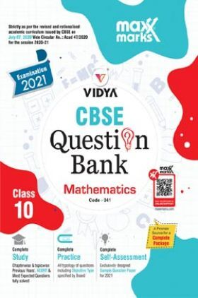 MaxxMarks CBSE Question Bank Mathematics For Class 10 (For 2021 Exams)