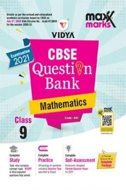 MaxxMarks CBSE Question Bank Mathematics For Class 9 (For 2021 Exams)